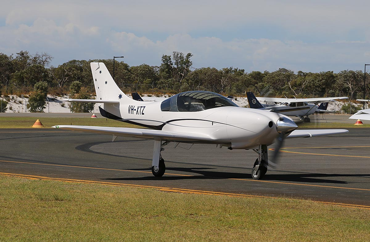 VH-XTZ Lancair Legacy (MSN L2K-323) of Smith Legacy Pty Ltd at Jandakot Warbirds Aircraft Display Day, at Jandakot Airport - Sun 23 March 2014. Photo © Keith Anderson