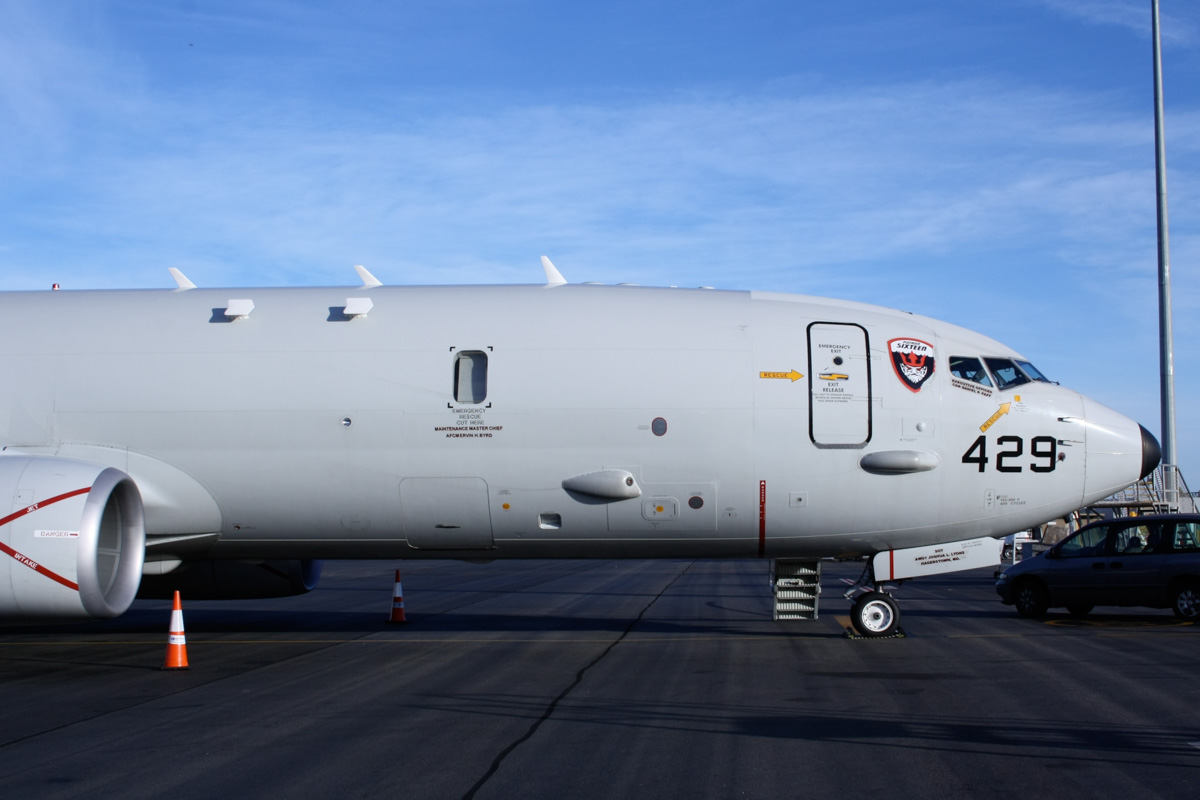 168429/LF-429 Boeing P-8A Poseidon (737-8FV) (MSN 40809/3792) of US Navy squadron VP-16 'War Eagles', at Perth Airport - Mon 24 March 2014. Photo © Wilson