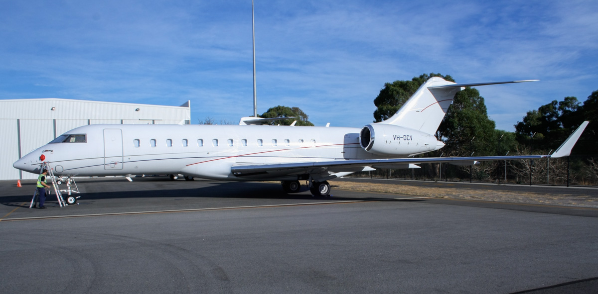 VH-OCV Bombardier BD-700-1A10 Global Express XRS (MSN 9326) owned by ExecuJet Australia Pty Ltd, at Perth Airport - Mon 24 March 2014. Photo © Wilson