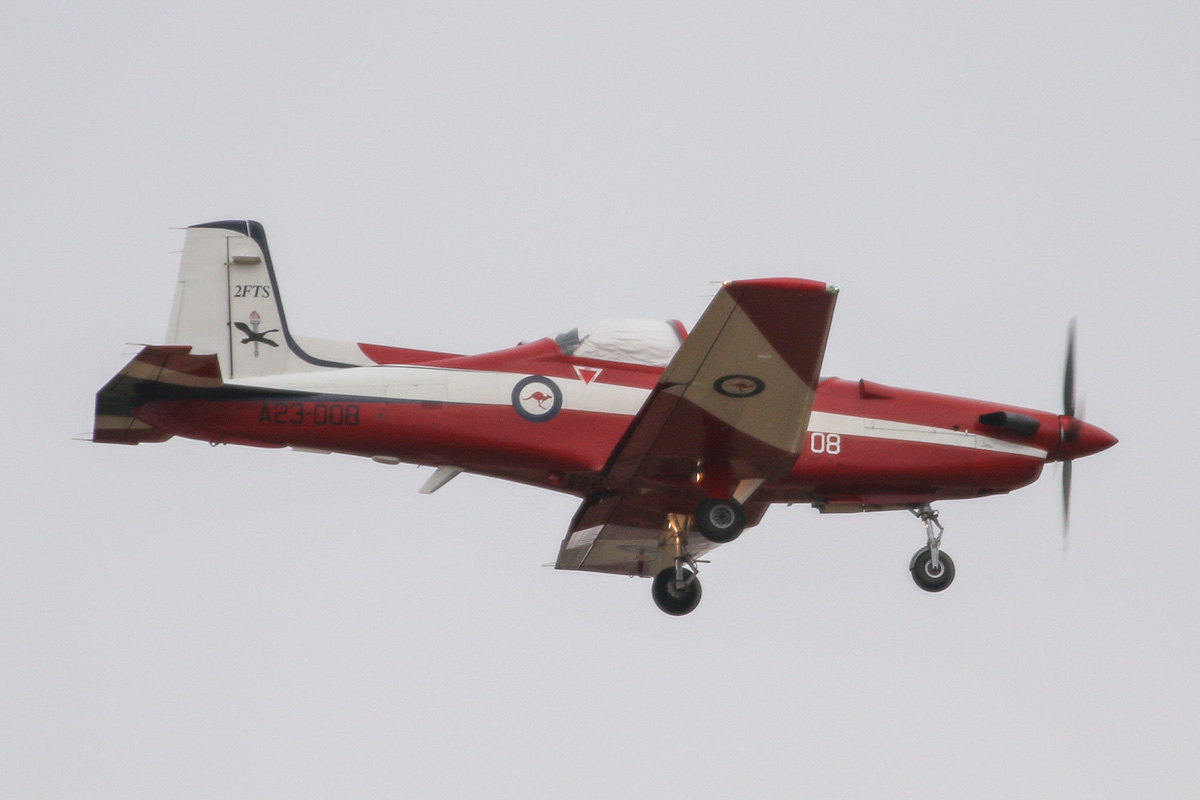 A23-008 Pilatus PC-9/A (MSN 508) of the RAAF, 2 Flying Training School (2FTS), at RAAF Pearce - Tue 25 March 2014. Photo © David Eyre