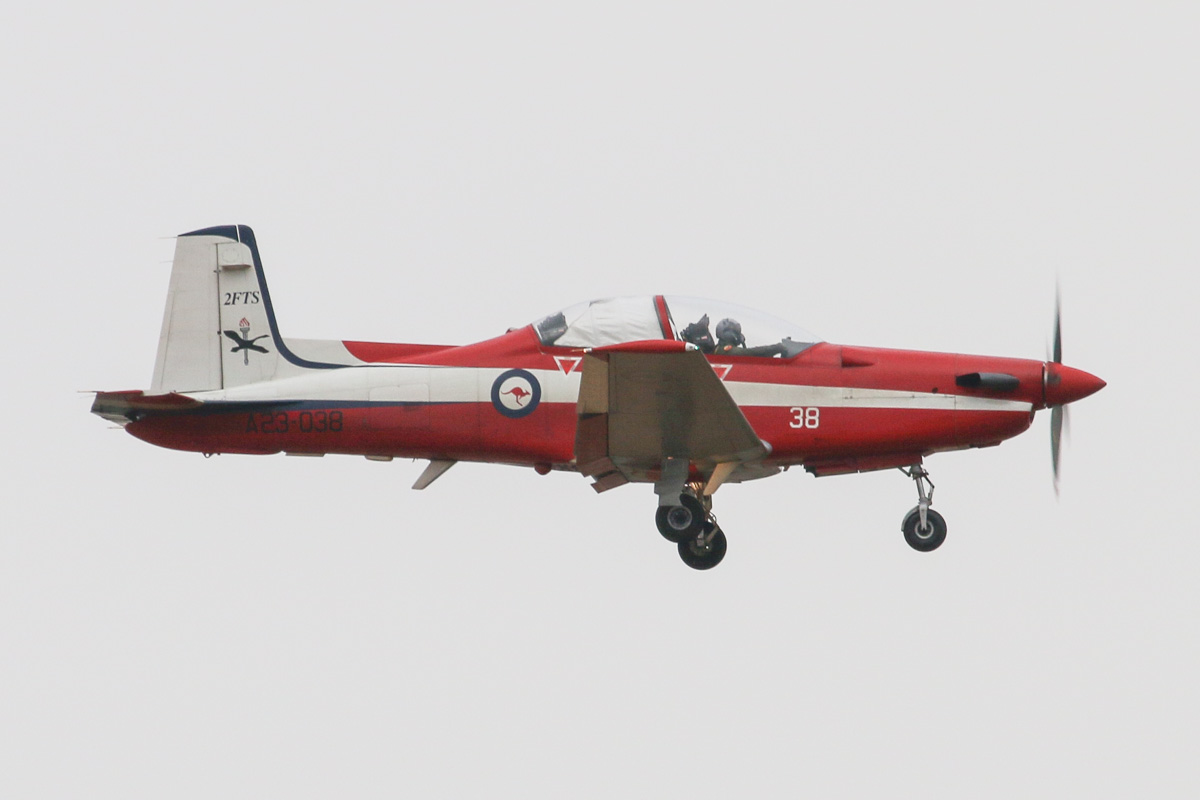 A23-038 Pilatus PC-9/A (MSN 538) of the RAAF, 2 Flying Training School (2FTS), at RAAF Pearce - Tue 25 March 2014. Photo © David Eyre