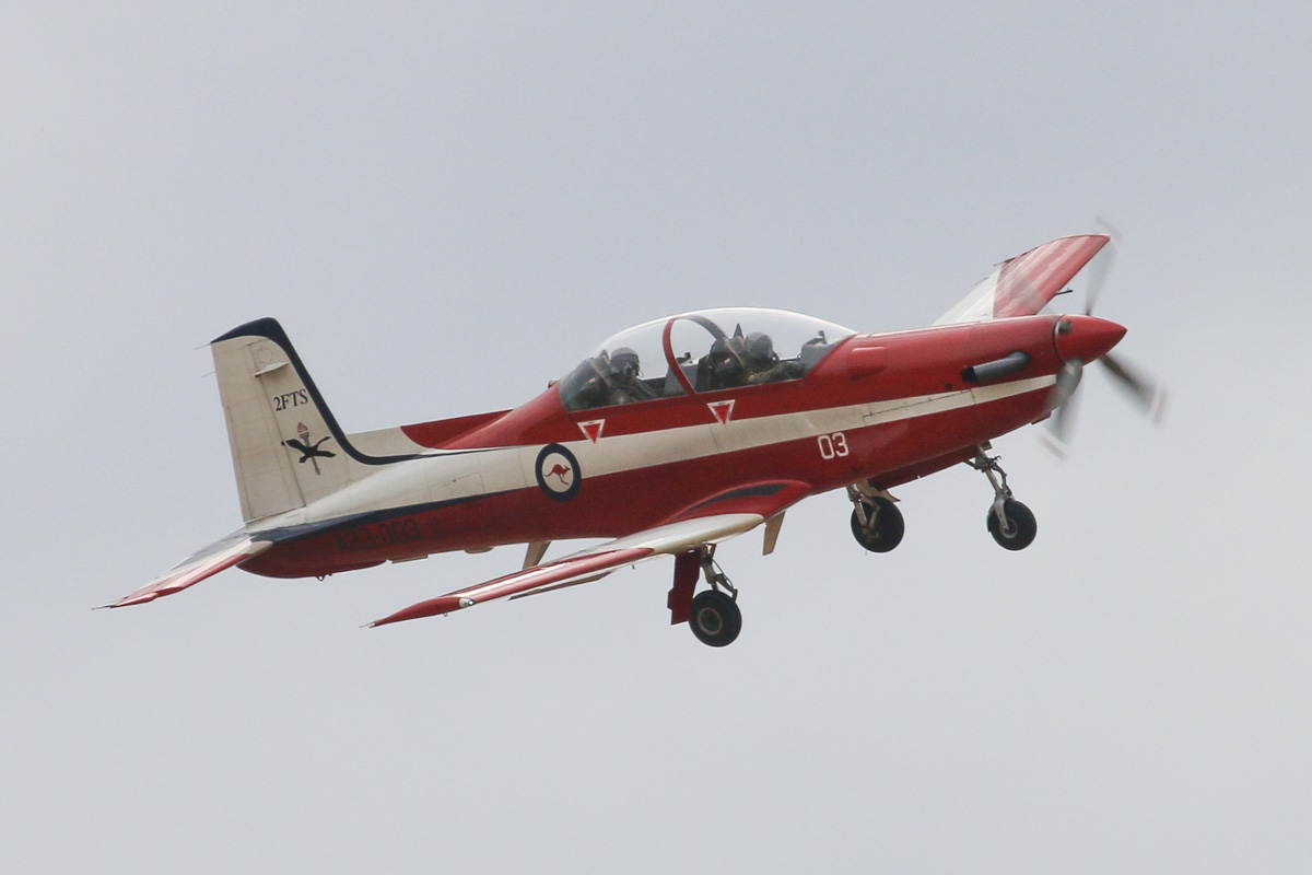 A23-003 Pilatus PC-9/A (MSN 503) of the RAAF, 2 Flying Training School (2FTS), at RAAF Pearce – Wed 26 March 2014. Photo © David Eyre