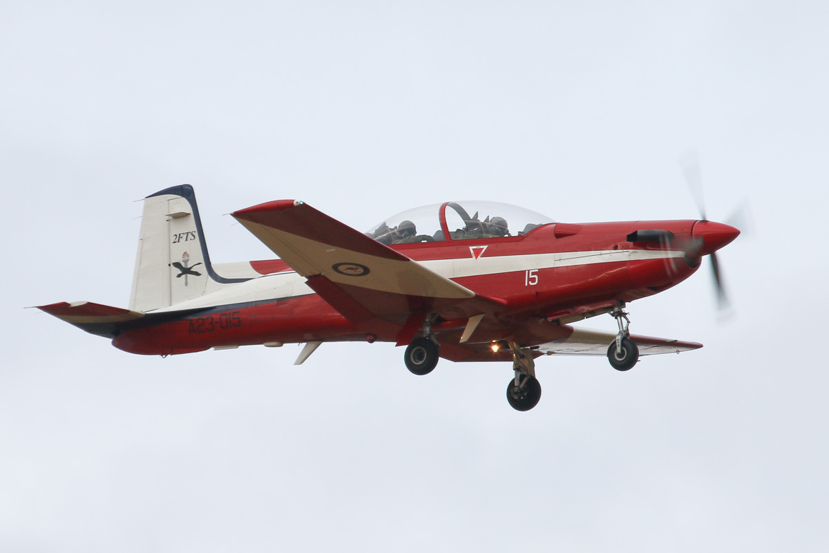A23-015 Pilatus PC-9/A (MSN 515) of the RAAF, 2 Flying Training School (2FTS), at RAAF Pearce – Wed 26 March 2014. Photo © David Eyre