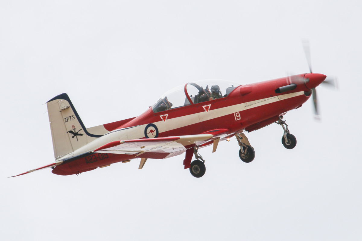 A23-019 Pilatus PC-9/A (MSN 519) of the RAAF, 2 Flying Training School (2FTS), at RAAF Pearce – Wed 26 March 2014. Photo © David Eyre