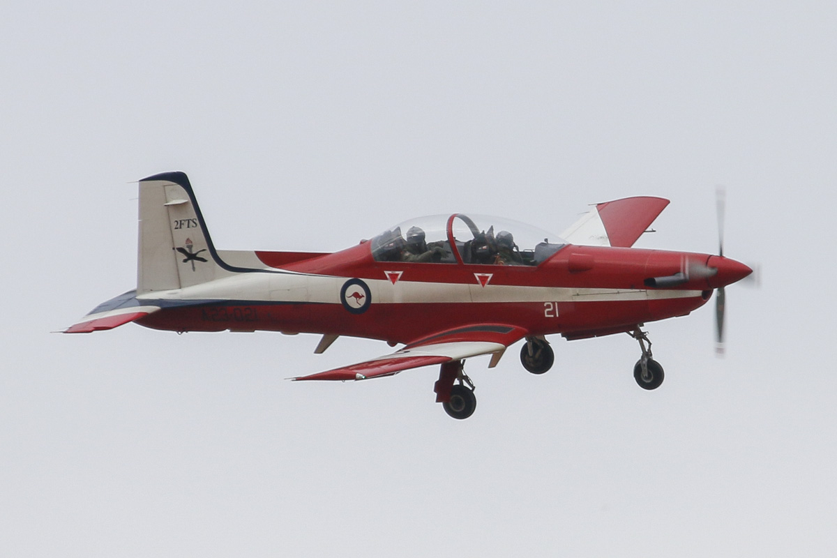 A23-021 Pilatus PC-9/A (MSN 521) of the RAAF, 2 Flying Training School (2FTS), at RAAF Pearce – Wed 26 March 2014. Photo © David Eyre