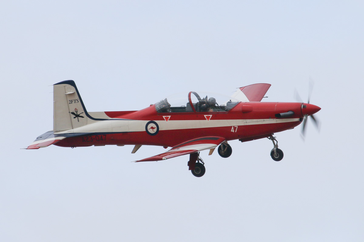 A23-047 Pilatus PC-9/A (MSN 547) of the RAAF, 2 Flying Training School (2FTS), at RAAF Pearce – Wed 26 March 2014. Photo © David Eyre
