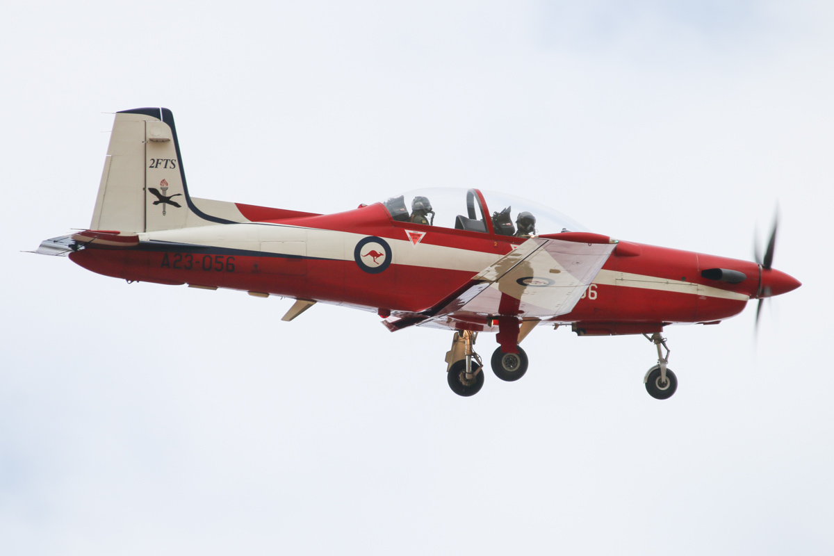 A23-056 Pilatus PC-9/A (MSN 556) of the RAAF, 2 Flying Training School (2FTS), at RAAF Pearce – Wed 26 March 2014. Photo © David Eyre