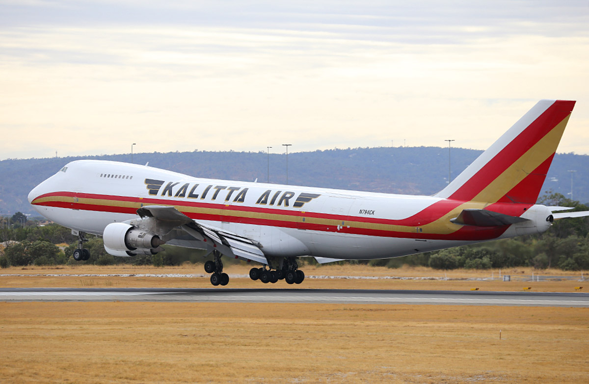 N794CK Boeing 747-222B(SF) (MSN 23737/675) of Kalitta Air, at Perth Airport - Wed 26 March 2014. Photo © Keith Anderson