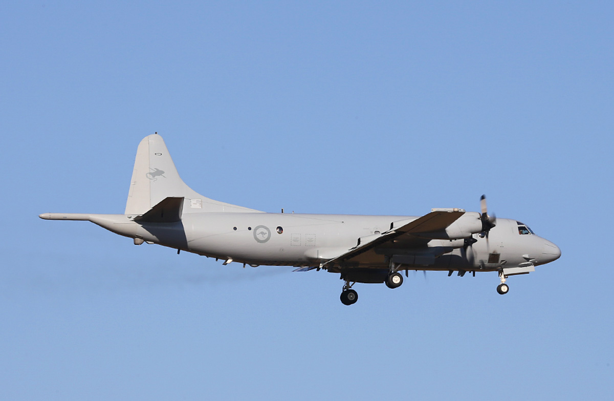 A9-753 Lockheed AP-3C Orion (MSN 285D-5660) of RAAF, 11 Squadron, based at RAAF Base Edinburgh, SA, at RAAF Pearce – Thu 27 March 2014. 'RESCUE 105', returning from a search flight at 16:34, looking for missing Malaysia Airlines flight MH370 (Boeing 777-2H6ER 9M-MRO), which disappeared on 8 March 2014. Photo © Keith Anderson