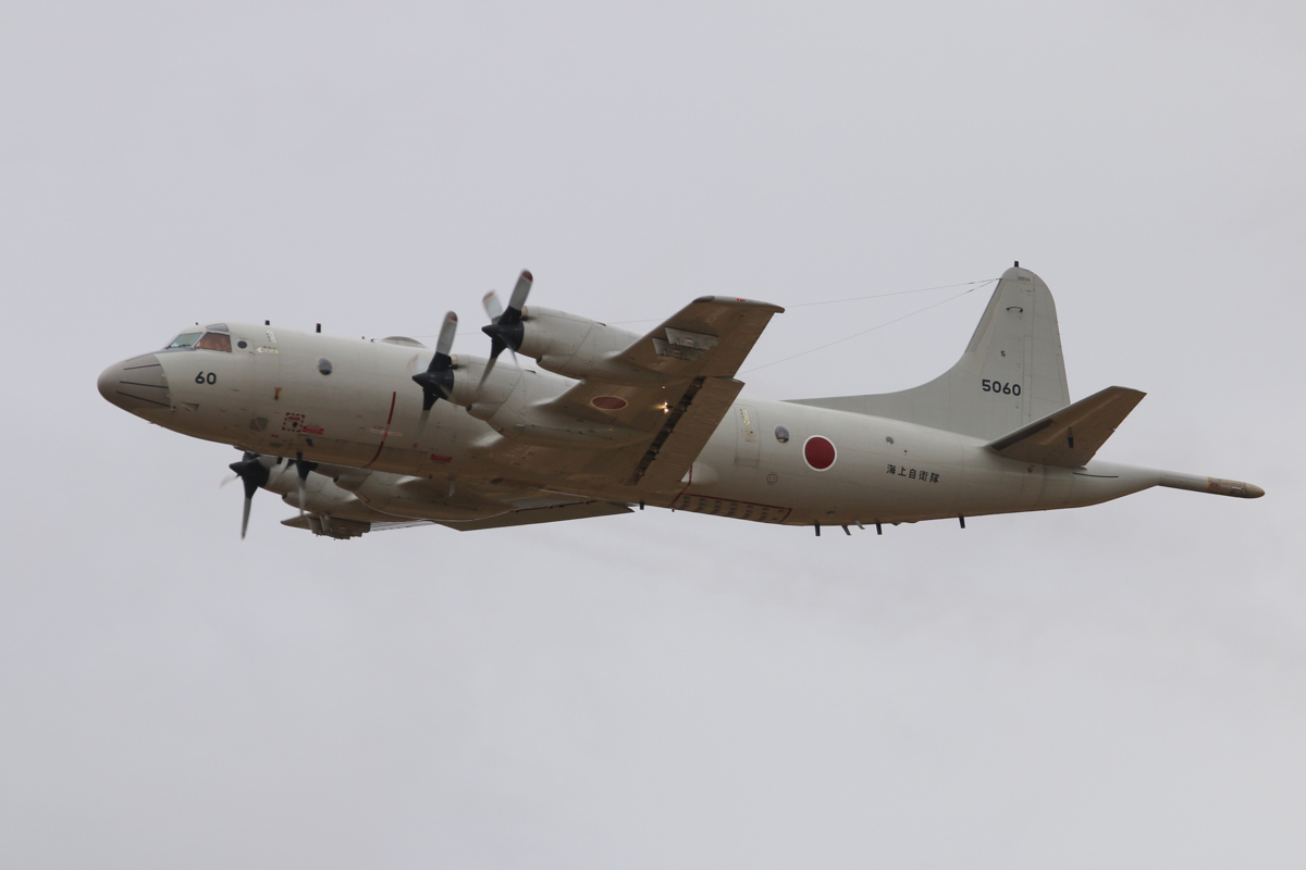 5060 Lockheed (Kawasaki) P-3C-II½ Orion (MSN 9057) of the Japan Maritime Self Defence Force, 5 Kokutai, based at Naha Air Base, Okinawa, Japan, at RAAF Pearce – Sat 29 March 2014. Photo © David Eyre