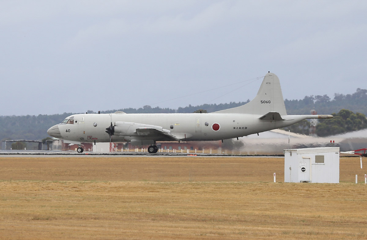 5060 Lockheed (Kawasaki) P-3C-II½ Orion (MSN 9057) of the Japan Maritime Self Defence Force, 5 Kokutai, based at Naha Air Base, Okinawa, Japan, at RAAF Pearce – Sat 29 March 2014. Photo © Keith Anderson