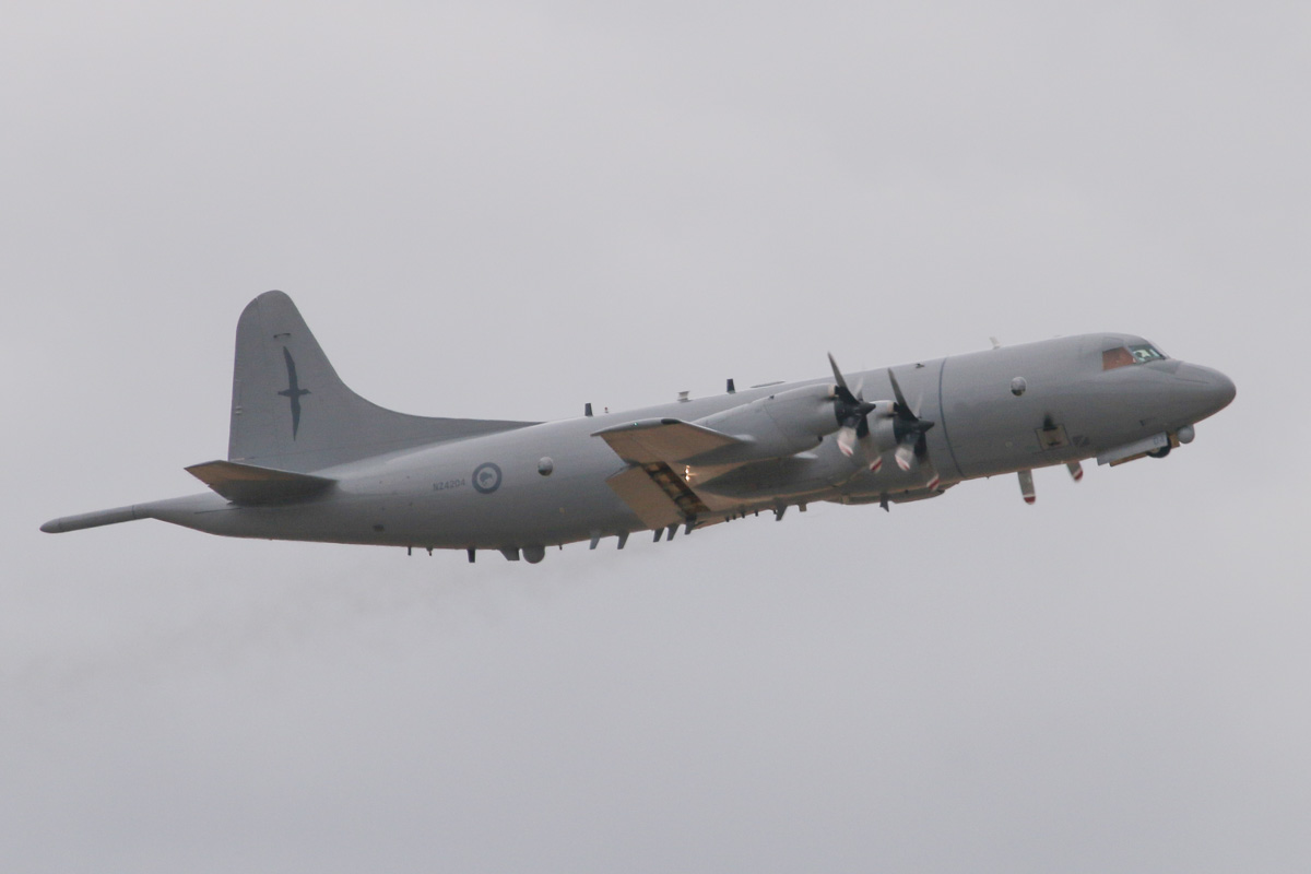 NZ4204 Lockheed P-3K2 Orion (MSN 185-5202) of the Royal New Zealand Air Force, 5 Squadron, based at RNZAF Base Auckland, New Zealand, at RAAF Pearce – Sat 29 March 2014. Photo © David Eyre