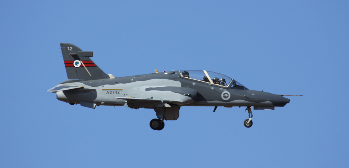 A27-12 BAE Systems Hawk 127 (MSN DT12) of RAAF, 79 Squadron, at RAAF Pearce – Wed 2 April 2014. Photo © Steve Jaksic