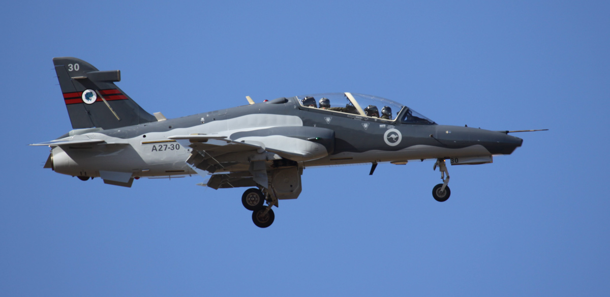 A27-30 BAE Systems Hawk 127 (MSN DT30) of RAAF, 79 Squadron, at RAAF Pearce – Wed 2 April 2014. Photo © Steve Jaksic