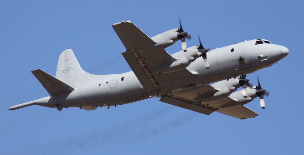 A9-… Lockheed AP-3C Orion of RAAF, 10 Squadron, based at RAAF Edinburgh, SA, at RAAF Pearce – Wed 2 April 2014. Photo © Steve Jaksic