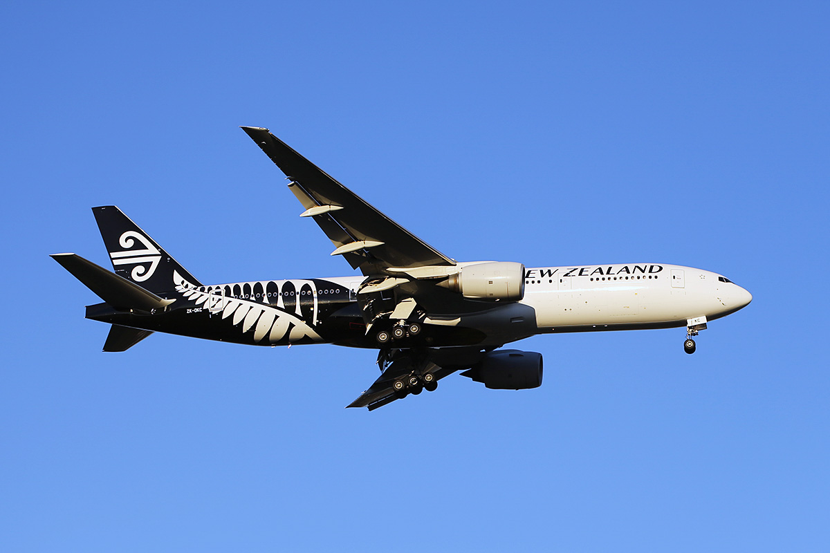 ZK-OKC Boeing 777-219ER (MSN 34377/546) of Air New Zealand at Perth Airport – Fri 11 April 2014. Photo © Keith Anderson