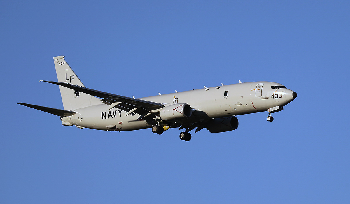 168438/LF-438 Boeing P-8A Poseidon (737-8FV) (MSN 40818/4294) of US Navy squadron VP-16 'War Eagles', at Perth Airport – Sun 13 April 2014. Photo © Keith Anderson
