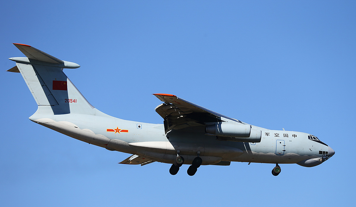 20541 Ilyushin IL-76MD (MSN 0083486570) of the Peoples' Liberation Army Air Force (PLAAF), 13th Transport Division, 39th Air Regiment, Dangyang, China, at Perth Airport – Sun 13 April 2014. Photo © Keith Anderson