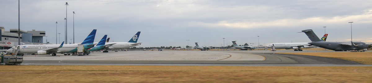 Terminal 1 (international) apron at Perth Airport– Fri 4 April 2014. Photo © David Eyre