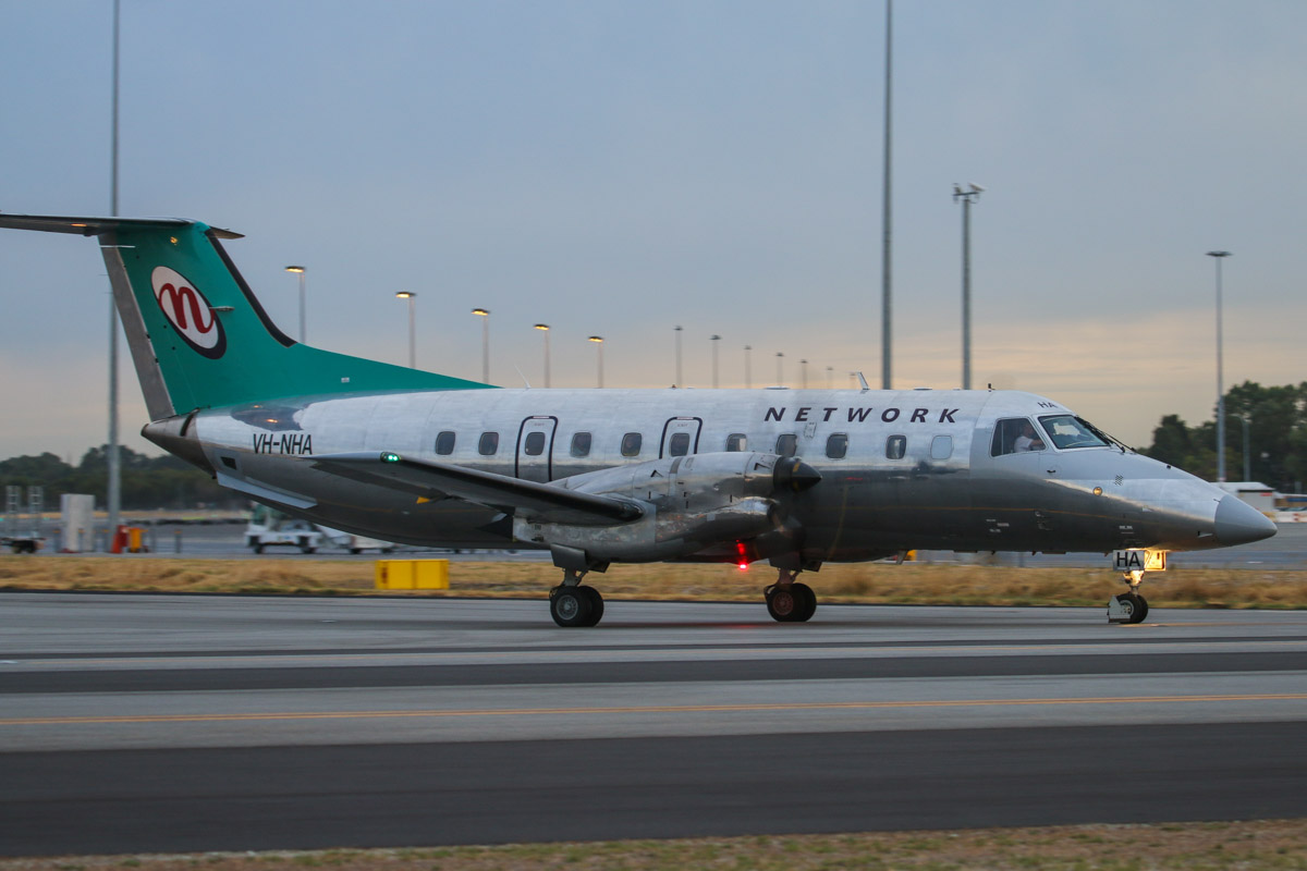 VH-NHA Embraer 120ER Brasilia (MSN 120269) of Network Aviation, at Perth Airport– Fri 4 April 2014. Photo © David Eyre