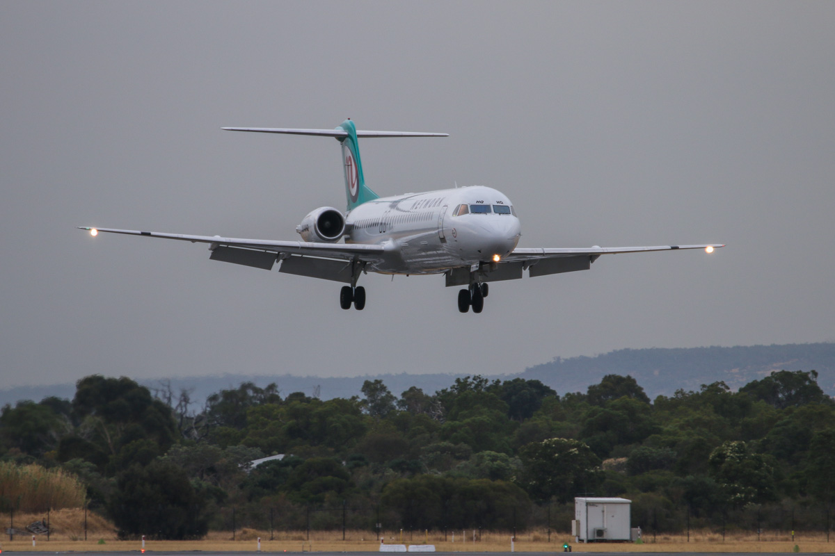 VH-NHQ Fokker 100 (MSN 11506) of Network Aviation, at Perth Airport– Fri 4 April 2014. Photo © David Eyre