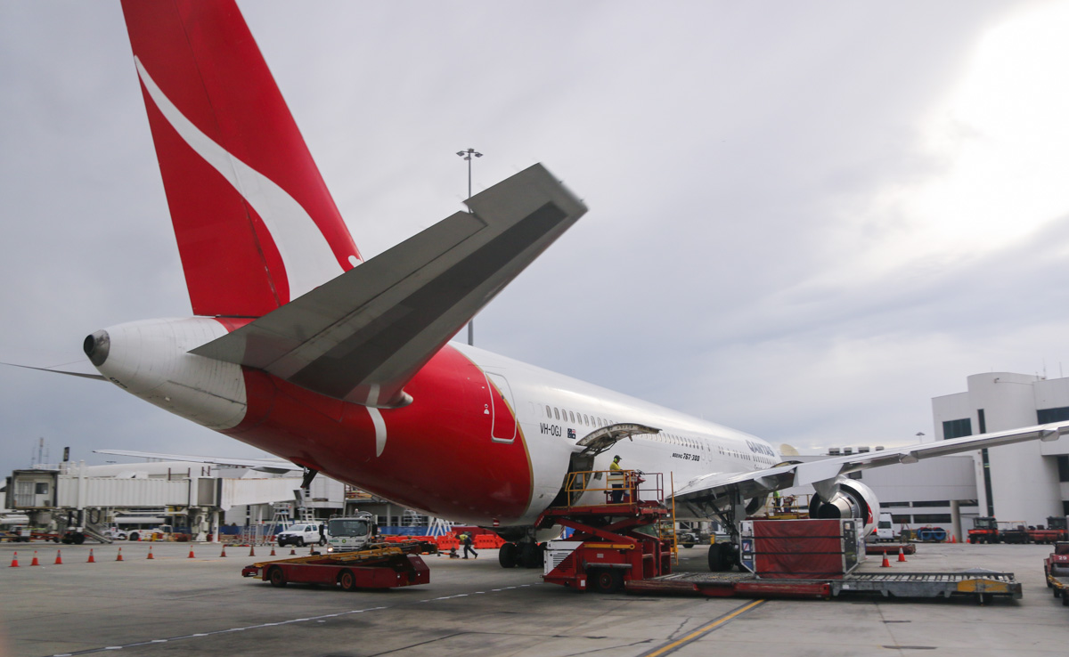 VH-OGJ Boeing 767-338ER (MSN 25274/396) of Qantas, named 'City of Port Macquarie', at Perth Airport – Fri 4 April 2014. Photo © David Eyre