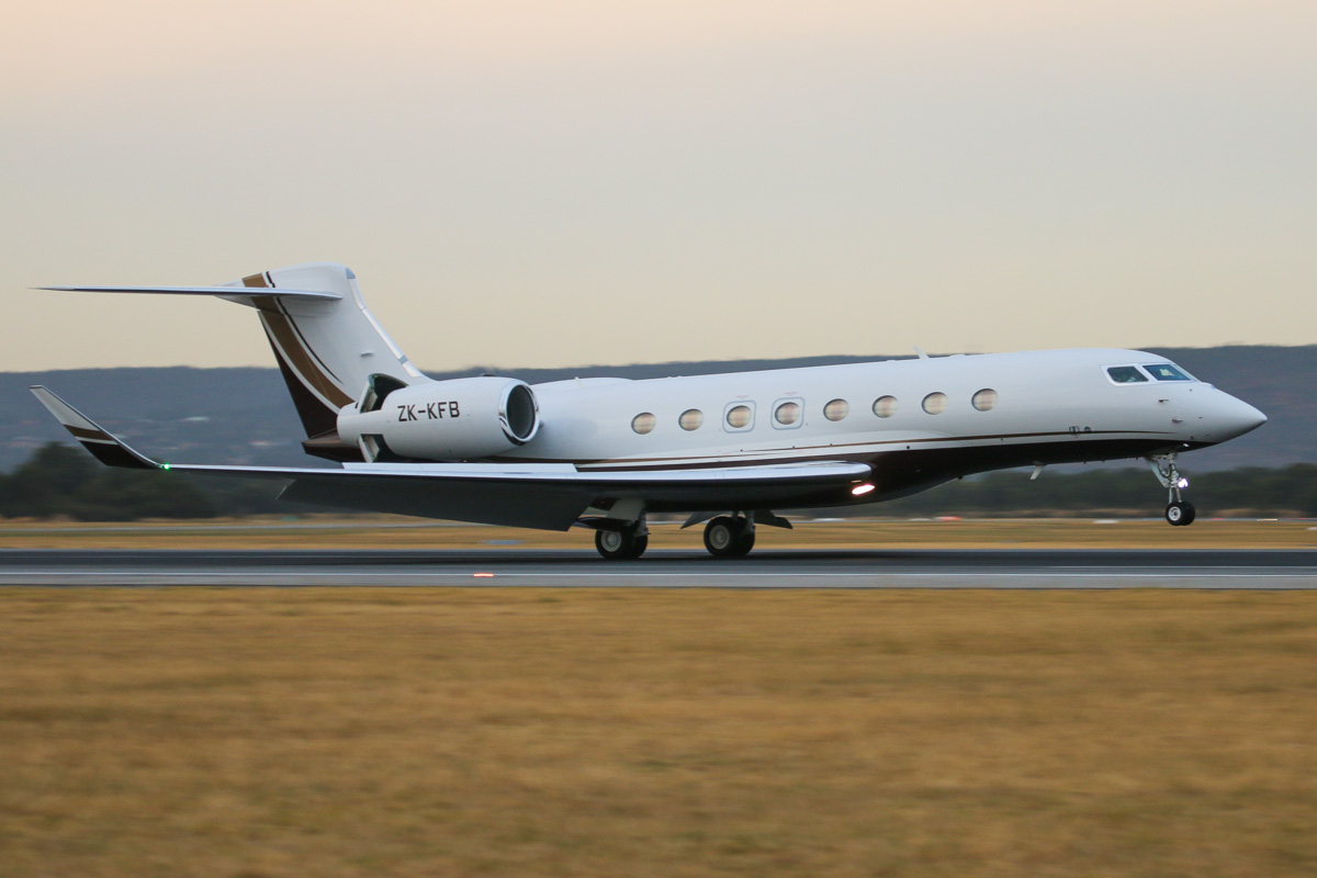 ZK-KFB Gulfstream Aerospace G650 (MSN 6043) of Execujet New Zealand Ltd, at Perth Airport– Fri 4 April 2014. Photo © David Eyre