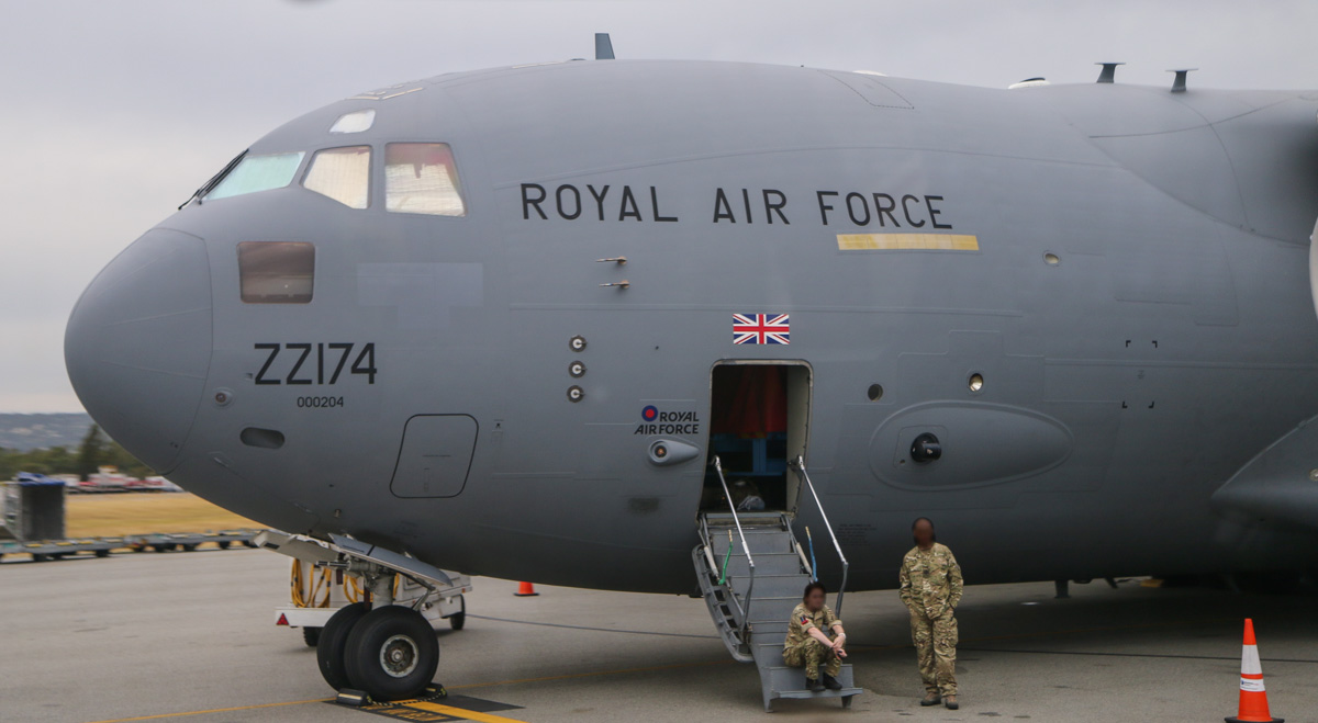 ZZ174 Boeing C-17A Globemaster III (MSN P-77 / UK3) of 99 Squadron, Royal Air Force, at Perth Airport – Fri 4 April 2014. Photo © David Eyre