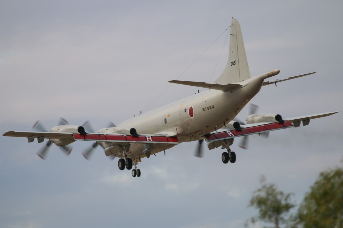 5031 Lockheed (Kawasaki) P-3C-II½ Orion (MSN 9028) of the Japan Maritime Self Defence Force, 3 Kokutai, at RAAF Pearce – Wed 9 April 2014. Photo © David Eyre