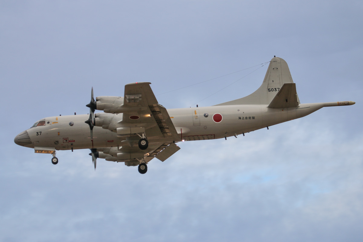5037 Lockheed (Kawasaki) P-3C-II½ Orion (MSN 9034) of the Japan Maritime Self Defence Force, 3 Kokutai, at RAAF Pearce – Wed 9 April 2014. Photo © David Eyre