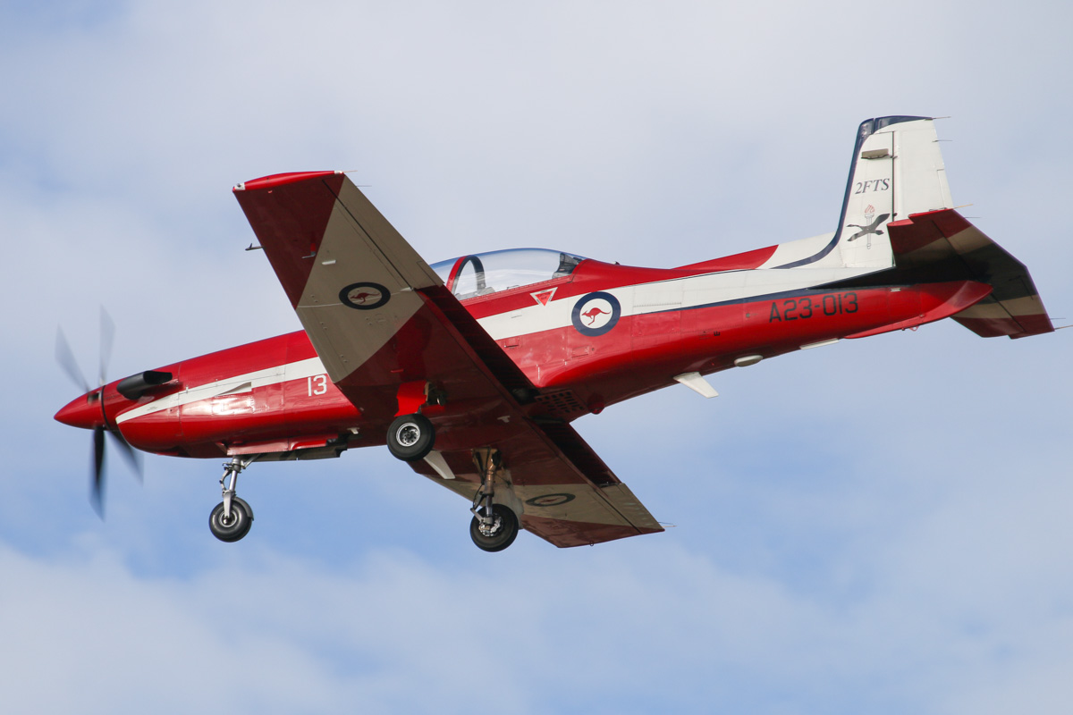 A23-013 Pilatus PC-9/A (MSN 513) of the RAAF, 2 Flying Training School (2FTS), at RAAF Pearce – Wed 9 April 2014. Photo © David Eyre