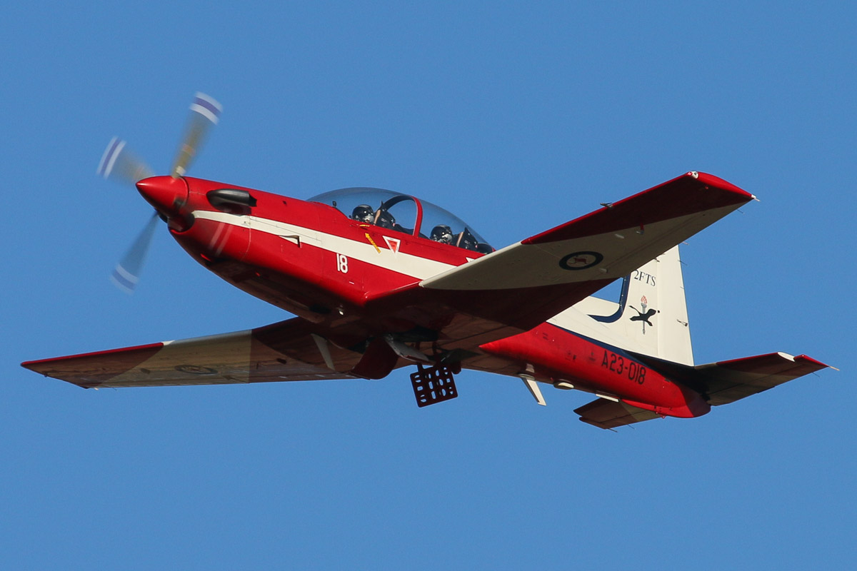 A23-018 Pilatus PC-9/A (MSN 518) of the RAAF, 2 Flying Training School (2FTS), at RAAF Pearce – Wed 9 April 2014. Photo © David Eyre