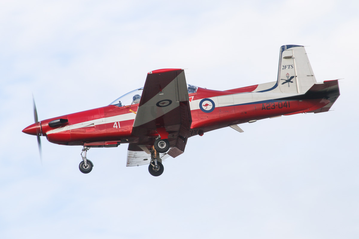 A23-041 Pilatus PC-9/A (MSN 541) of the RAAF, 2 Flying Training School (2FTS), at RAAF Pearce – Wed 9 April 2014. Photo © David Eyre