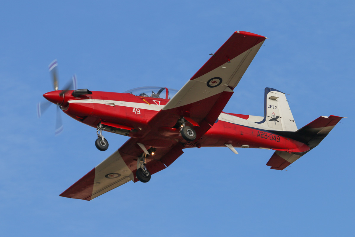 A23-049 Pilatus PC-9/A (MSN 549) of the RAAF, 2 Flying Training School (2FTS), at RAAF Pearce – Wed 9 April 2014. Photo © David Eyre