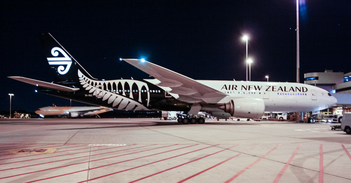 ZK-OKC Boeing 777-219ER (MSN 34377/546) of Air New Zealand, at Perth Airport – Fri 11 April 2014. Photo © Wilson