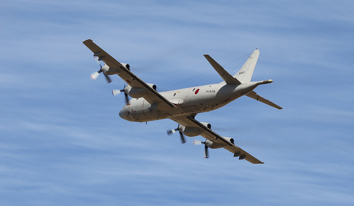 5037 Lockheed (Kawasaki) P-3C-II½ Orion (MSN 9034) of 3 Kokutai, Japan Maritime Self Defence Force, at RAAF Pearce – Thu 17 April 2014. Photo © Keith Anderson