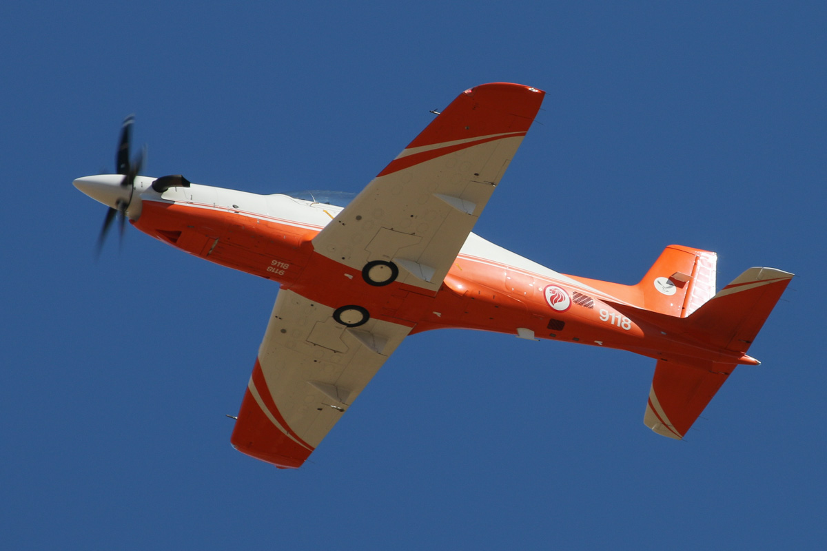 9118 Pilatus PC-21 (MSN 126) of 130 'Eagle' Squadron, Republic of Singapore Air Force, at RAAF Pearce - Tue 22 April 2014. Photo © David Eyre