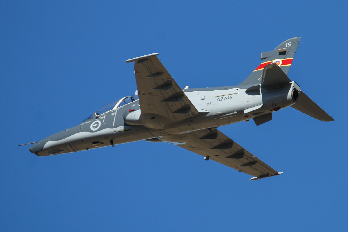 A27-15 BAE Systems Hawk 127 (MSN DT-15) of 79 Squadron, RAAF, at RAAF Pearce - Tue 22 April 2014. Photo © David Eyre