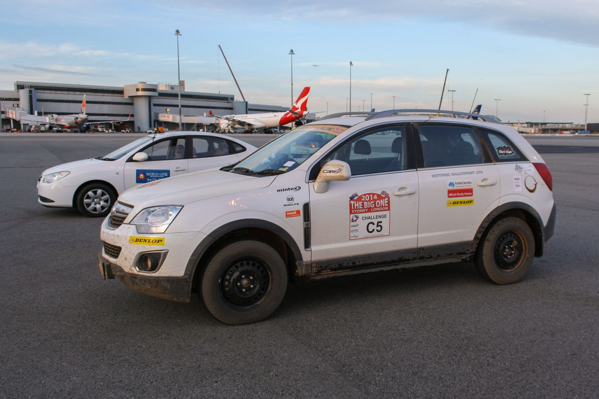 Cars for the Sydney-London Rally 2014 at Perth Airport - Wed 23 April 2014. Photo © Wilson