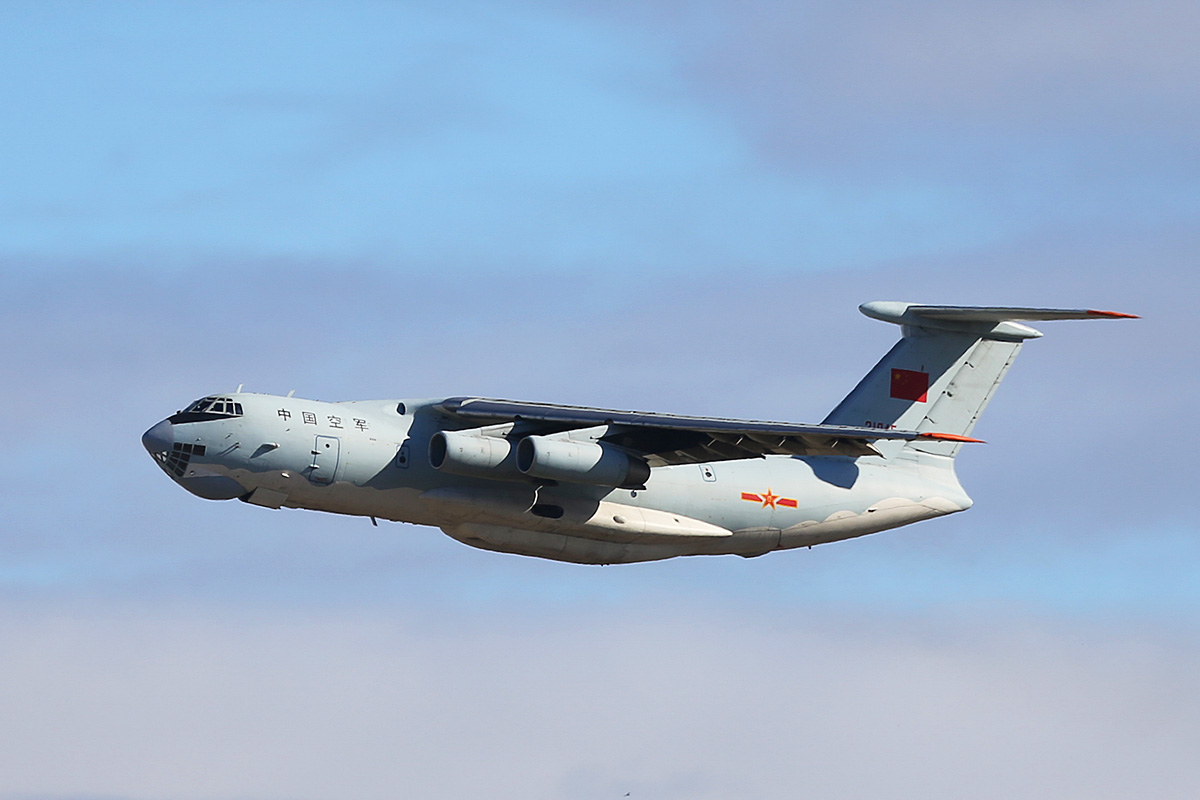 21045 Ilyushin IL-76MD (MSN 1033416524) of the 13th Transport Division, 39th Air Regiment, Peoples' Liberation Army Air Force (PLAAF), at Perth Airport – Tue 29 April 2014. Photo © Keith Anderson