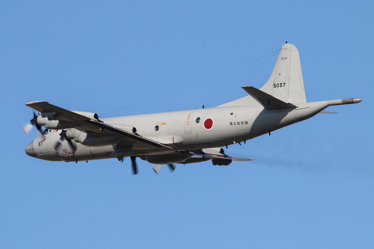 5037 Lockheed (Kawasaki) P-3C-II½ Orion (MSN 9034) of the Japan Maritime Self Defence Force, 3 Kokutai, at RAAF Pearce – Wed 30 April 2014. Photo © David Eyre