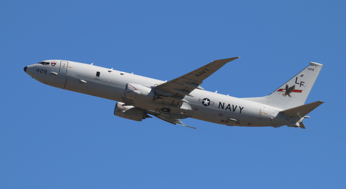 168429 / LF-429 Boeing P-8A Poseidon (737-8FV) (MSN 40809/3792) of US Navy, VP-16 'War Eagles', at Perth Airport – Thu 1 May 2014. Photo © Steve Jaksic
