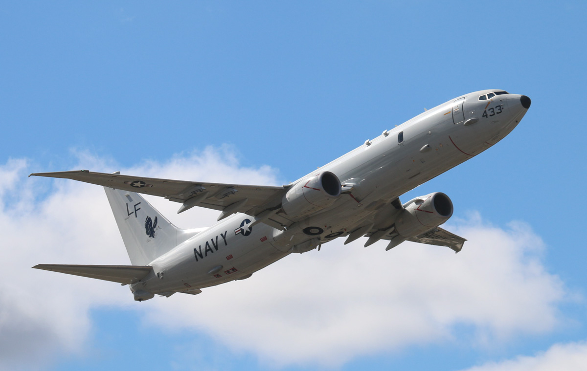 168433 / LF-433 Boeing P-8A Poseidon (737-8FV) (MSN 40813/4055) of US Navy, VP-16 'War Eagles', at Perth Airport – Thu 1 May 2014. Photo © Steve Jaksic