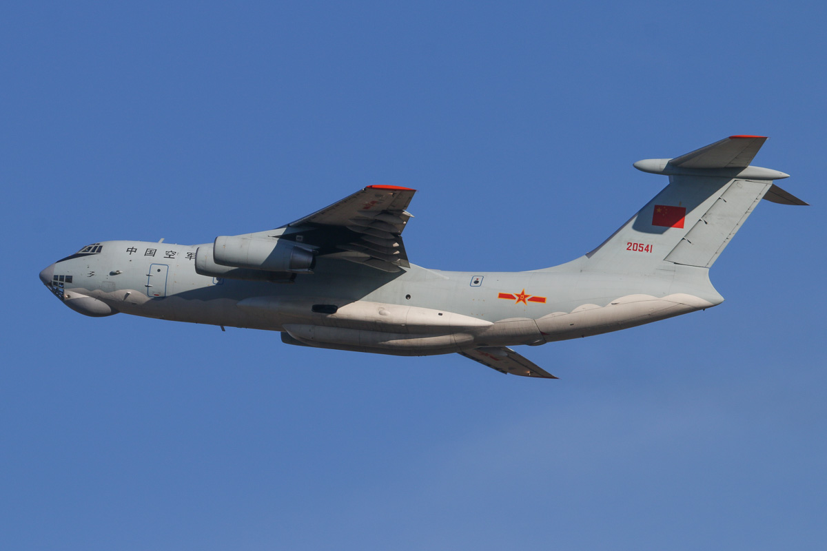 20541 Ilyushin IL-76MD (MSN 0083486570) of the 13th Transport Division, 39th Air Regiment, Peoples' Liberation Army Air Force (PLAAF) (China), at Perth Airport – Sat 3 May 2014. Photo © David Eyre