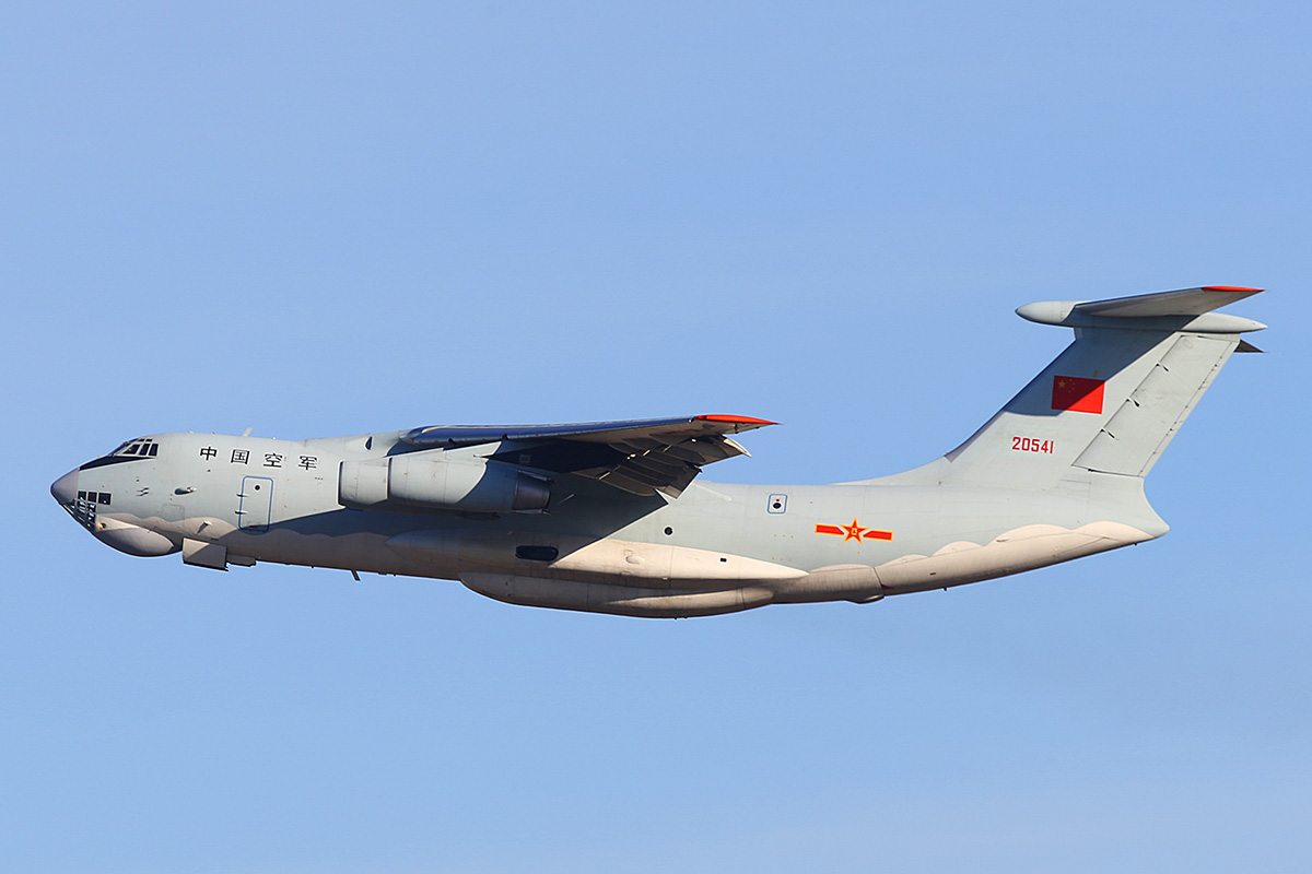 20541 Ilyushin IL-76MD (MSN 0083486570) of the 13th Transport Division, 39th Air Regiment, Peoples' Liberation Army Air Force (PLAAF) (China), at Perth Airport – Sat 3 May 2014. Photo © Keith Anderson