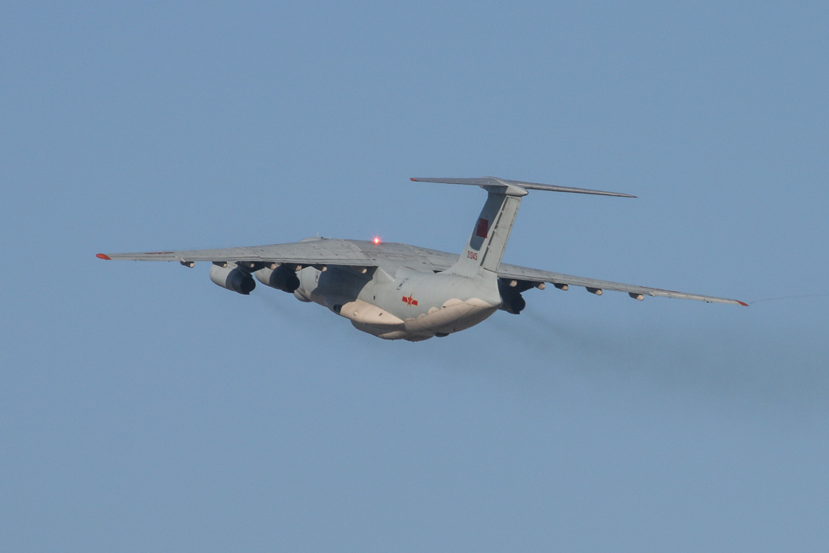 21045 Ilyushin IL-76MD (MSN 1033416524) of the 13th Transport Division, 39th Air Regiment, Peoples' Liberation Army Air Force (PLAAF), at Perth Airport – Sat 3 May 2014. Photo © David Eyre