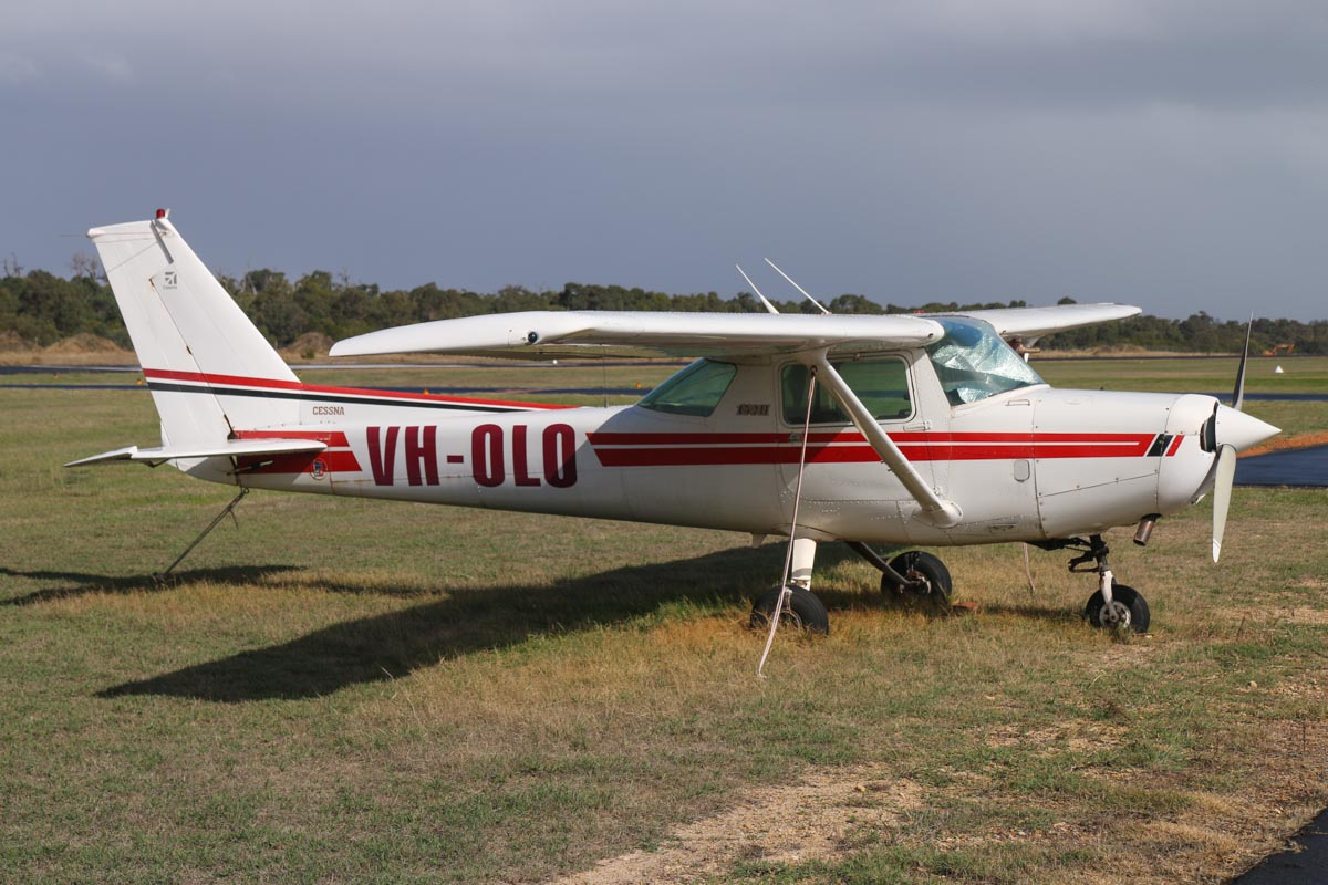VH-OLO Cessna 152 II (MSN 15285553) owned by Ningaloo Reef Dreaming Pty Ltd of Exmouth, WA, at Bunbury Airport – Fri 9 May 2014. Photo © David Eyre