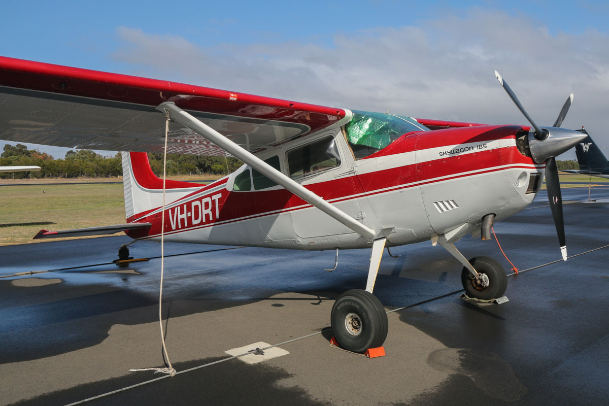 VH-DRT Cessna A185F Skywagon (MSN 18502979) owned by Dunn Aviation, at Bunbury Airport – Fri 9 May 2014. Photo © David Eyre