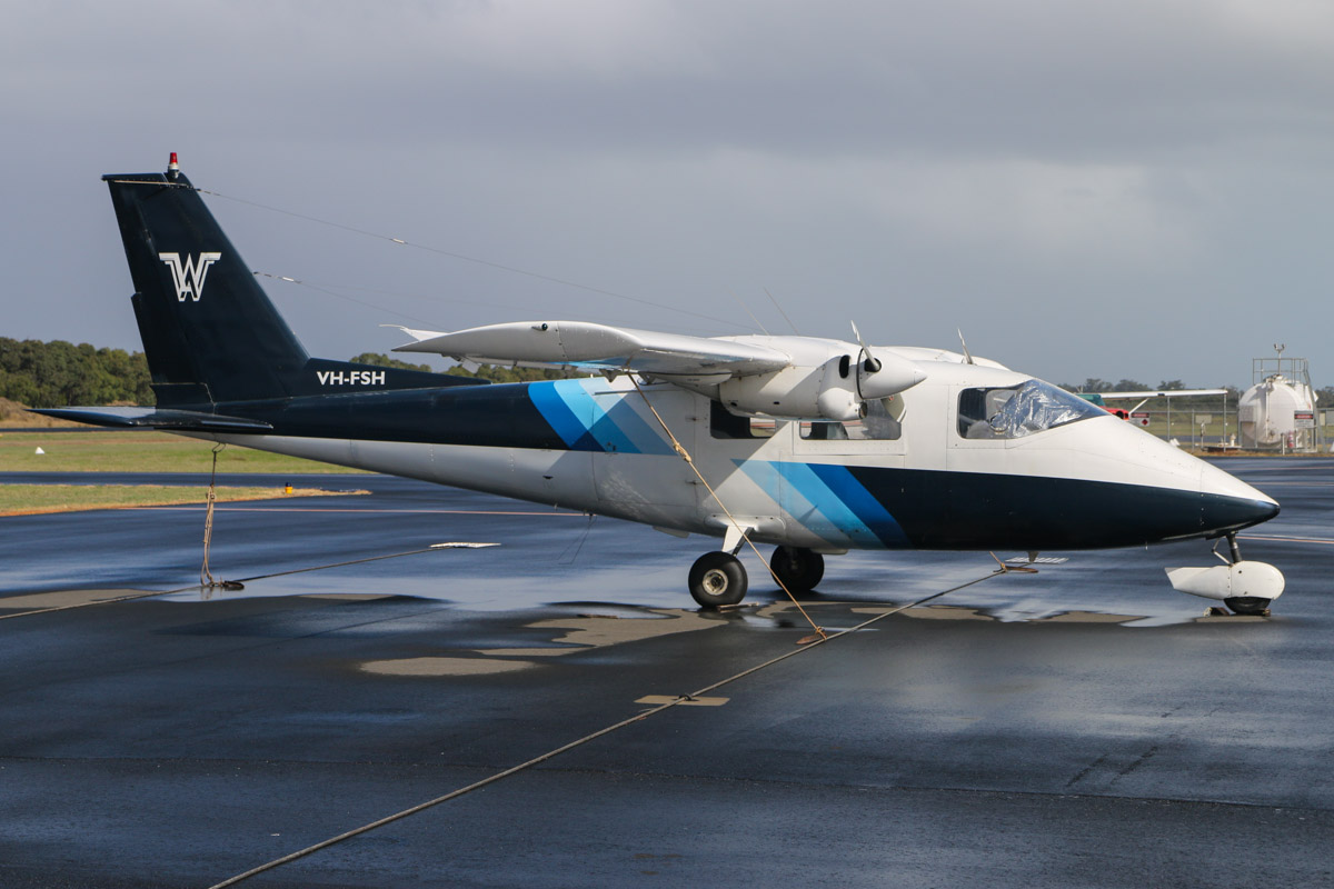 VH-FSH Partenavia P.68B (MSN 18) owned by Enesar Pty Ltd, at Bunbury Airport – Fri 9 May 2014. Photo © David Eyre