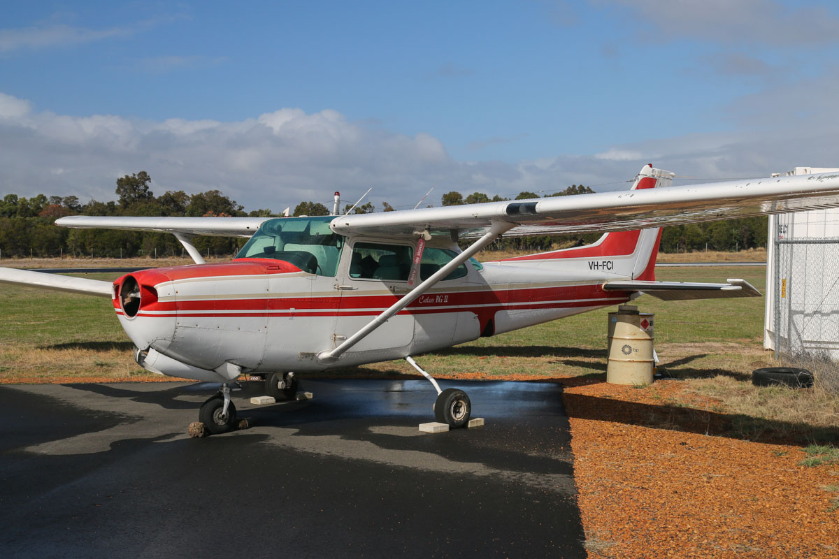 VH-FCI Cessna 172RG Cutlass RG II (MSN 172RG0940) operated by Royal Aero Club of Western Australia Inc, at Bunbury Airport – Fri 9 May 2014. Photo © David Eyre